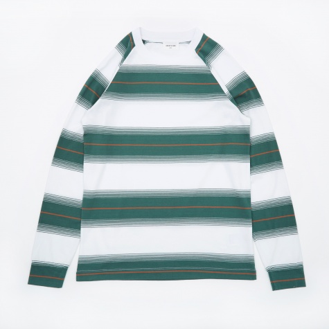 Han Long Sleeve T-Shirt - Bright White Stripe
