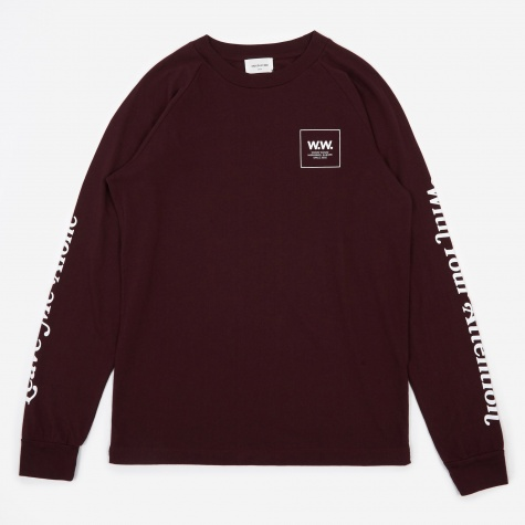 Han Long Sleeve T-Shirt - Burgundy