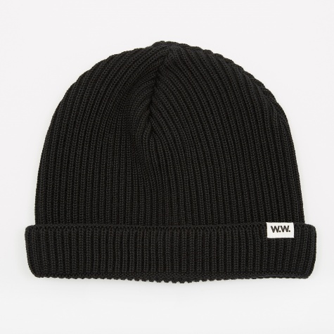 Daci Ribbed Beanie - Black