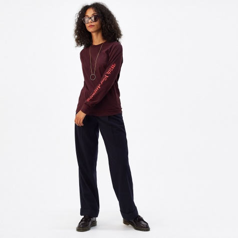 Halli Long Sleeve T-Shirt - Burgundy
