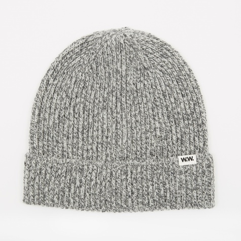 Henry Ribbed Beanie - Grey Mouline