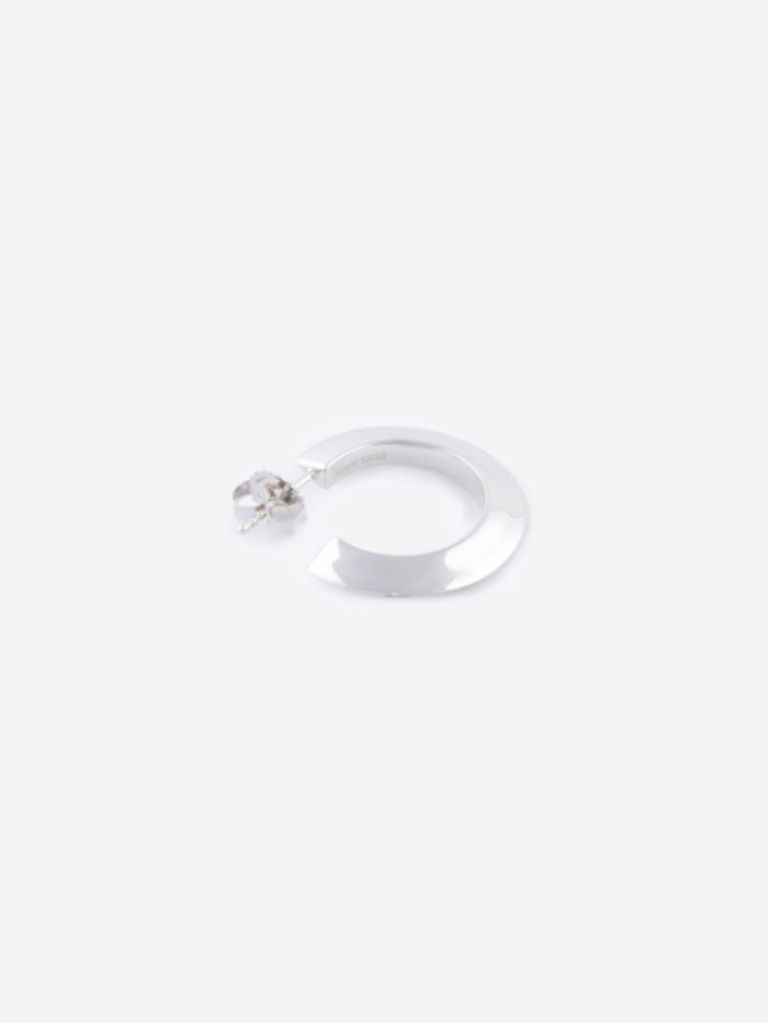 Maria Black Else Small Hoop Earring - High Polished Silver (Image 1)