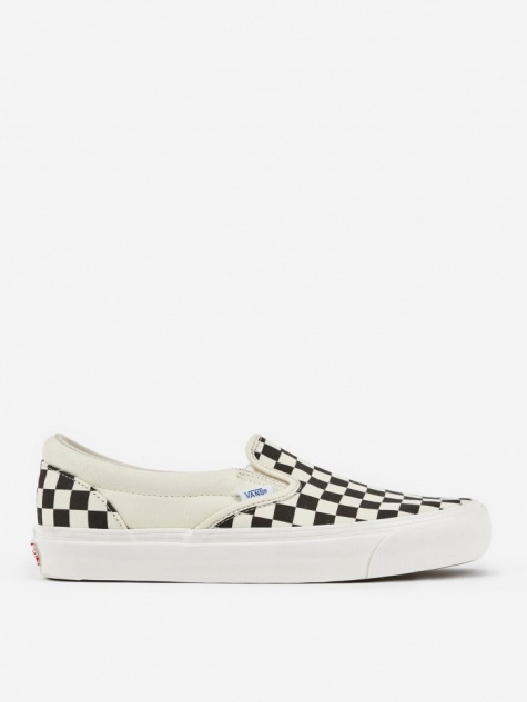 Vault OG Classic Slip-On LX - Black/White Checkerboard