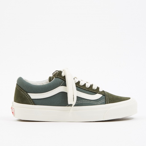 UA OG Old Skool LX - (Suede/Canvas) Forest Night/Cilantro