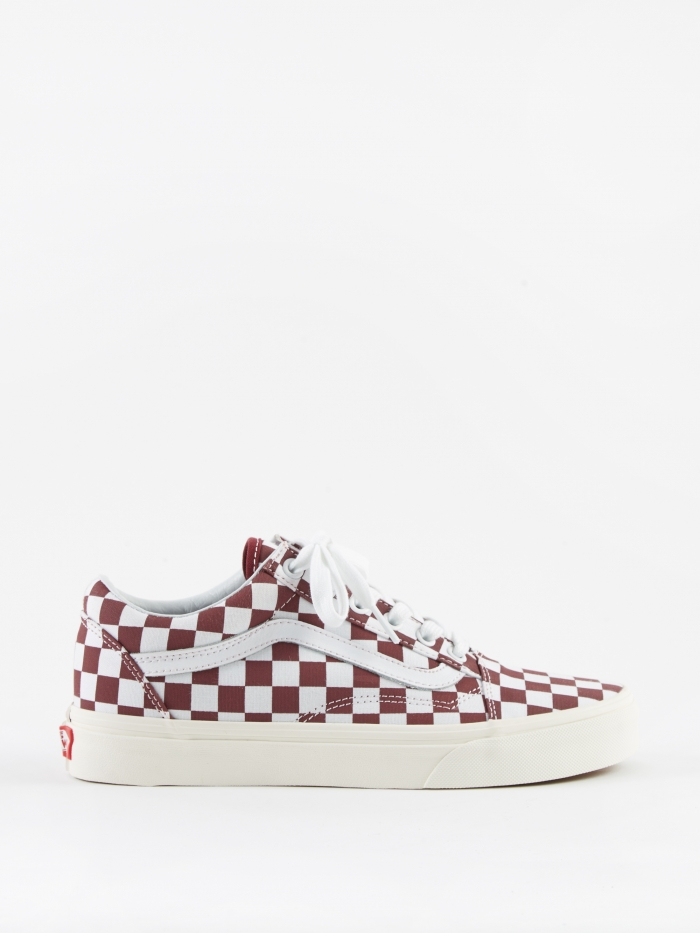 Vans UA Old Skool - (Checkerboard) Port Royale/Marshmallow (Image 1)