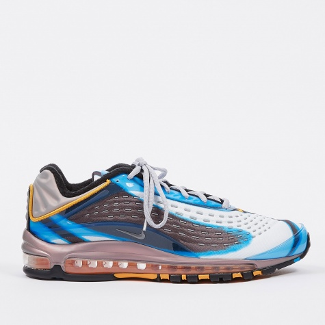 Women's Air Max Deluxe Shoe - Blue/Wolf Grey-Orange Peel-B