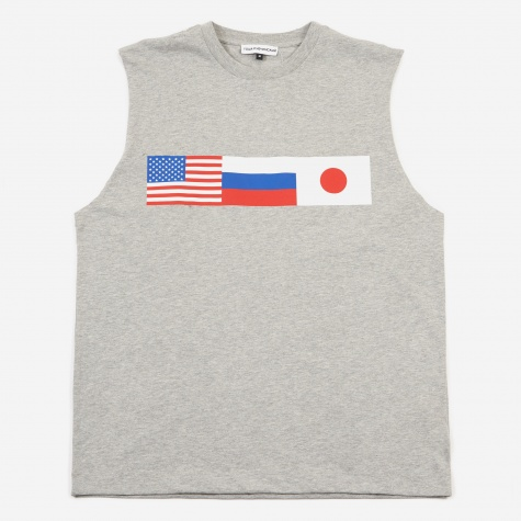 Flag Sleeveless T-Shirt - Grey