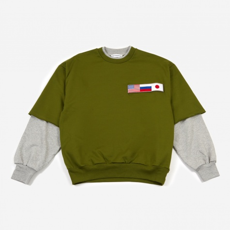 Double Sleeve Sweatshirt - Green