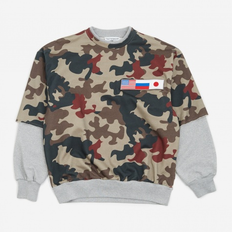 Double Sleeve Sweatshirt - Camo
