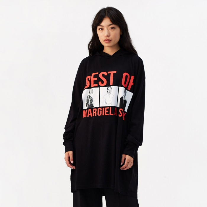 MM6 Maison Margiela Basic Jersey 'Best Of Margiela' Hooded Top (Image 1)