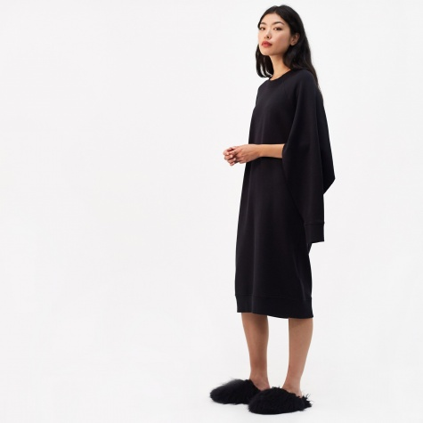 Basic Long Split Sleeve Sweatshirt Dress