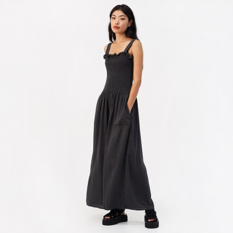 Wool Gauze Jumpsuit - Dark Grey Melange