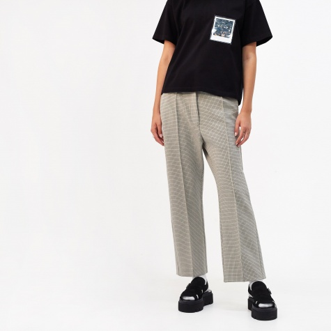 Tapered Trouser With Middle Seam - Checkered