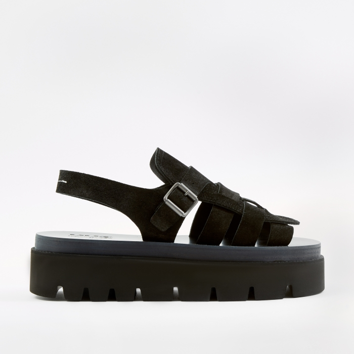 MM6 Maison Margiela Strap Sandals - Black (Image 1)