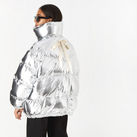 Metallic Padded Jacket - Silver