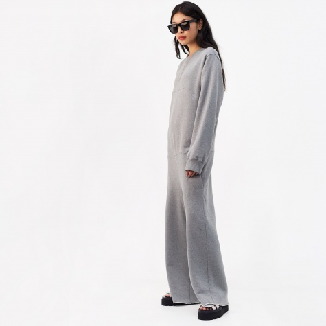 Sweat Jumpsuit - Grey Melange