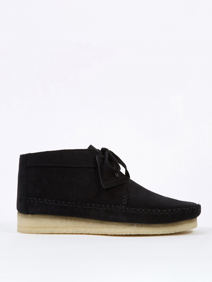 Clarks Originals Clarks Weaver Boot - Black Suede (Image 1)