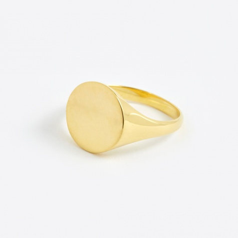 Ready Heart Ring - 14K Gold Plated