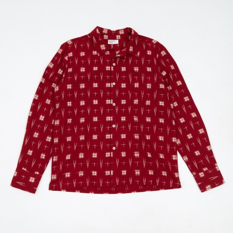 Garage Shirt - IKAT HD Red