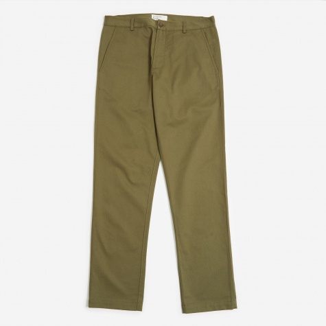 Aston Trouser - Light Olive Twill