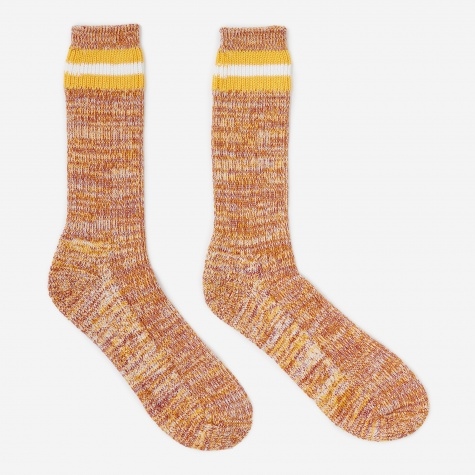 Everyday Stripe Sock - Yellow