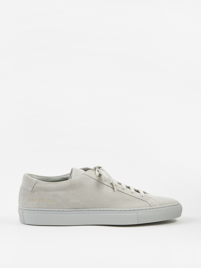 Common Projects Achilles Low Suede - Grey (Image 1)