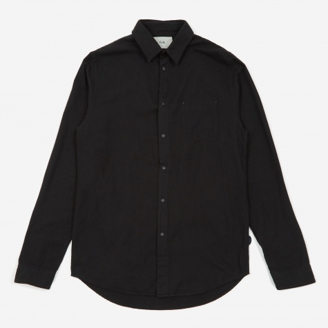 Stitch Pocket Shirt - Black Flannel