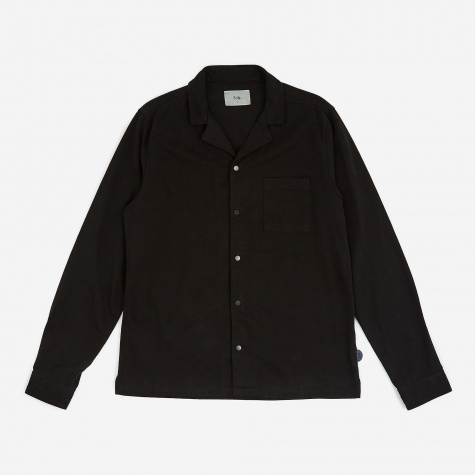 Longsleeve Soft Collar Shirt - Black