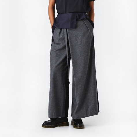 Tie Waist Trouser - Charcoal Grey