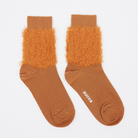 Fluffy Sock - Orange