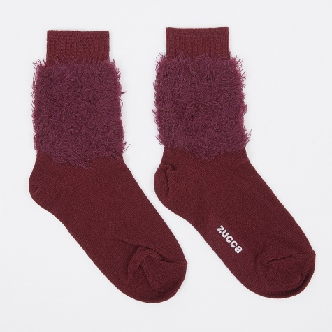 Fluffy Sock - Red