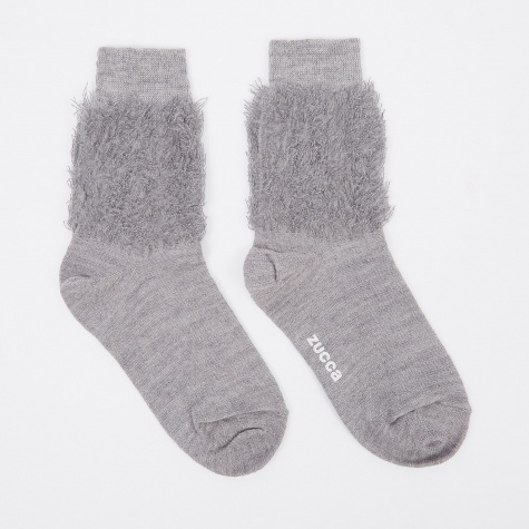 Fluffy Sock - Grey