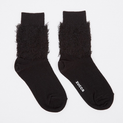 Fluffy Sock - Black