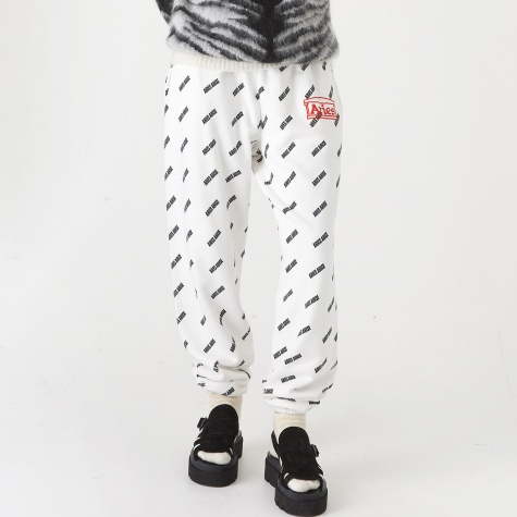 All Over Print Sweatpant - White