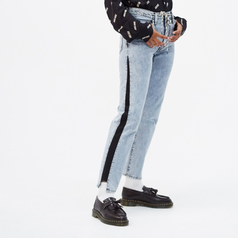 Stripe Jean - Blue Aceed/Black