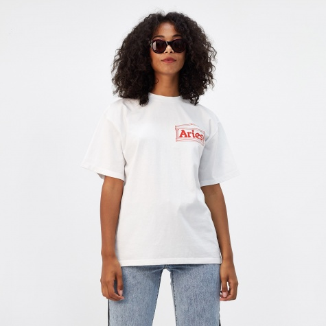 Short Sleeve Temple Logo T-Shirt - White/Red