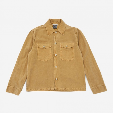Evening Coach Jacket - Camel Vintage Moleskin