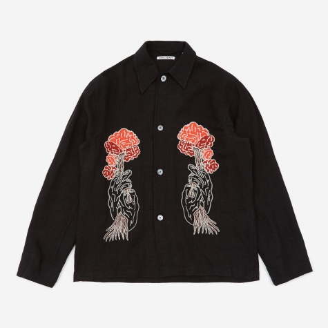 Embroidered Box Shirt - Tree Embroidery