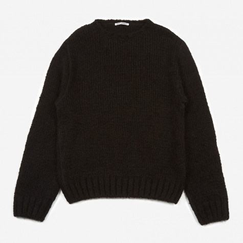 Base Roundneck Home Knitted Sweater - Black