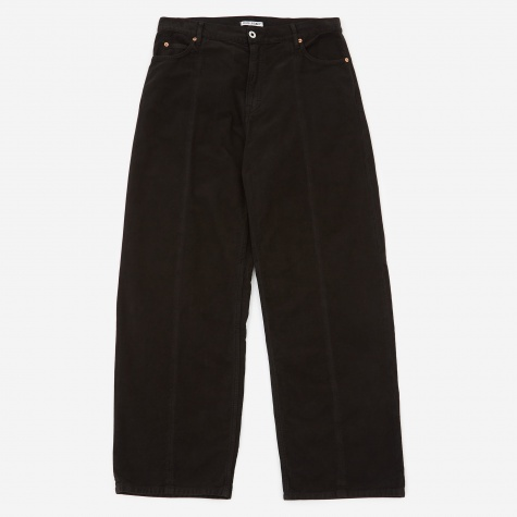 Vast Zone Cut Trouser - Black Vintage Moleskin