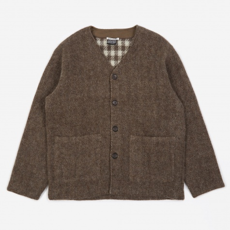 Alpaca Blanket Cardigan - Brown