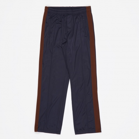 Side Stripe Track Pants - Navy/Brown