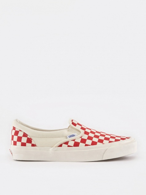Vans Vault OG Slip-On LX - Checkerboard White/Red