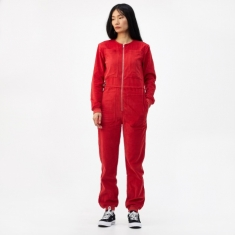 LF Markey Finlay Corduroy Boilersuit - Red