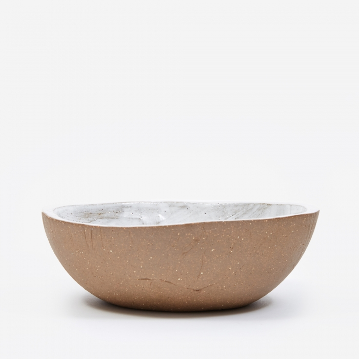 Kana Wide Serving Bowl - Basic White (Image 1)