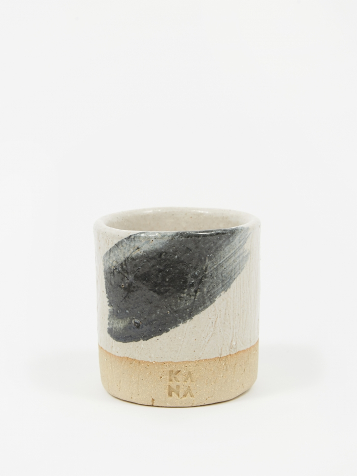 Kana Mug - White And Brush Stroke (Image 1)
