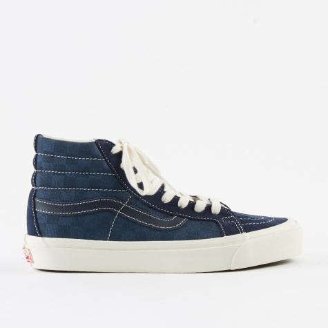 Vault OG SK8-Hi LX - (Suede/Canvas) Checkerboard/Dress Blue