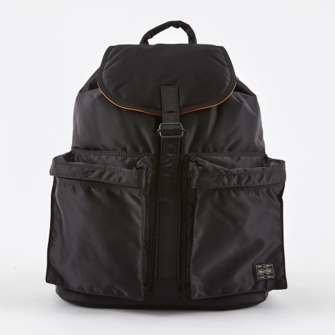 Tanker Rucksack w/Pocket - Black