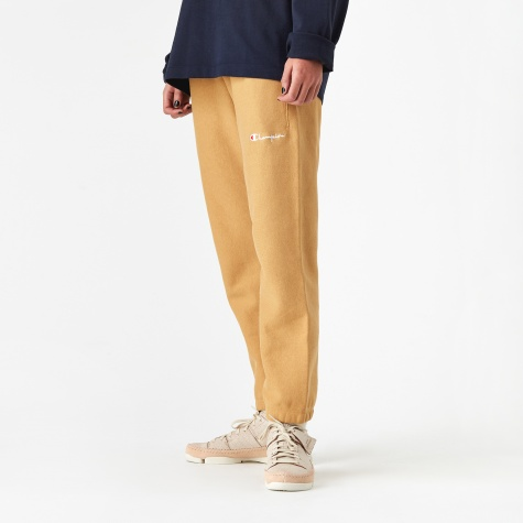 Blushed Fleece Reverse Weave Track Pant - Taupe