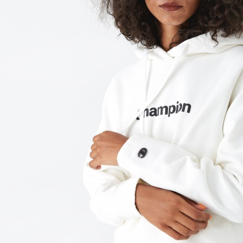 Champion Black Hooded Sweatshirt - Off White